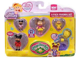 Cabbage Pack Kids X 8 2 Niños 2 Bebes 1 Mascota 3 Accesorios