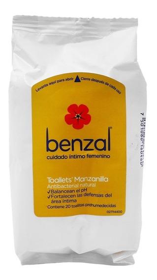 Benzal Toallets Manzanilla Pouch 1 Bolsa 20 Piezas