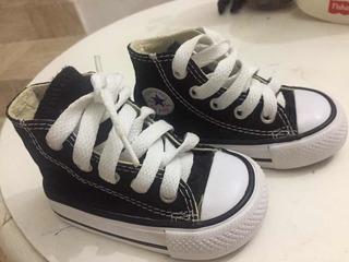 Botas Para Bebé Color Negras Converse Baratísimas Talla 11