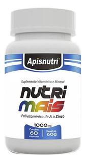 Nutri Mais Polívitaminico De A A Z 1000mg Apisnutri 60 Cáps