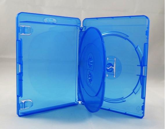 100 Estojo Bluray Bdr Triplo Azul