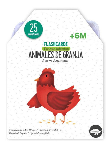 Imagen 1 de 3 de Flash Cards Animales De La Granja- Kocodío