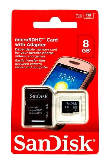 Cartão De Memória Microsd 08 Gb Sandisk