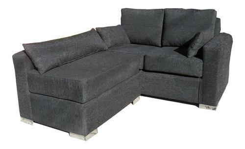 Sillon Sofa Esquinero 2 Cuerpos Premium Placa Asiento 18 Cm