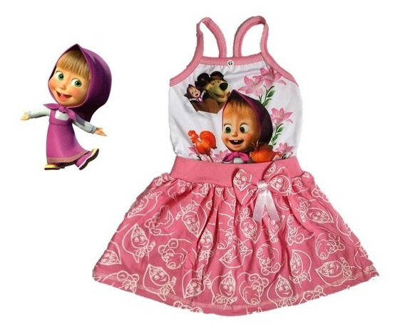 Vestido Infantil Masha E O Urso - Roupa/ Fantasia