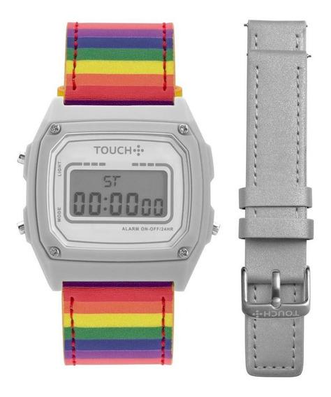 Relógio Unissex Touch Prata Troca Pulseira Twjh02br/t4k