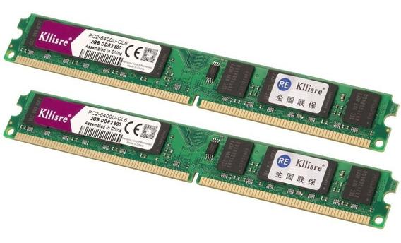 Kit 2 Memórias Kllisre Ddr2 800mhz 2gb Lacrada Intel E Amd