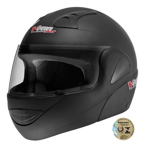 Capacete Moto Masculino V-pro Jet Pro Tork Preto Fosco