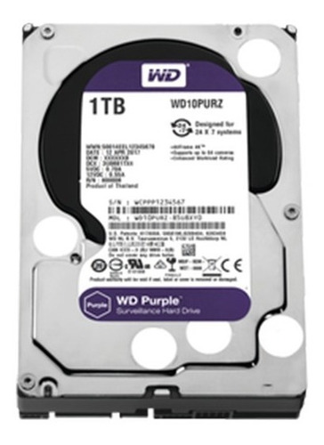 Disco Duro Wd Purple Surveillance Wd10purz 1 Tb