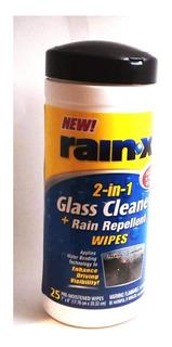Pack 25 Paños Limpia Vidrio Y Repelente Lluvia Rain-x