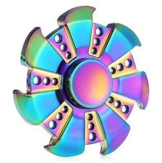 Fidget Hand Spinner Rainbow De Ferro Novidade Ansiedade