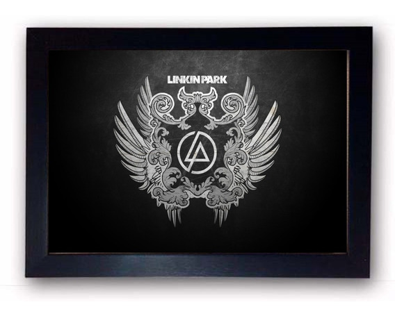 Quadro Decorativo Linkin Park Com Moldura
