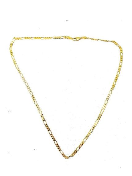Cadena Chapa De Oro 60cm Largo 5mm Gruesa