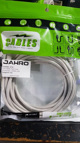 Cable De Red Patchcord 5mts