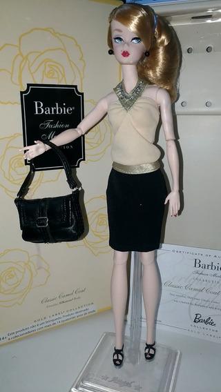 Barbie Silkstone Classic Camel Coat Customizada Gold Label