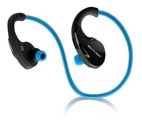 Fone De Ouvido Earphone Bluetooth Azul Arco Esporte Ph182