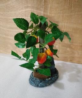 Decoración Arbolito Con Frutos 12x7.5x19cm