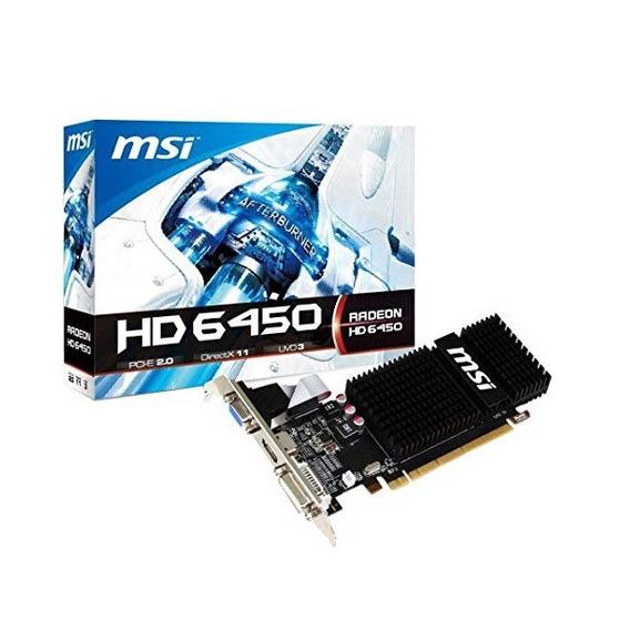 Placa De Video 1gb Msi Hd6450 625mhz 64bit Ddr3/ Vga/dvi/hdm