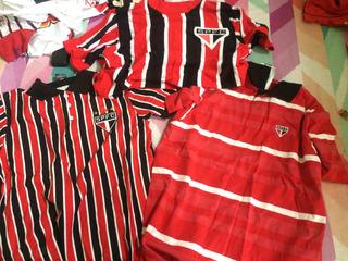 4 Camisas Do Spfc Casual E Retro