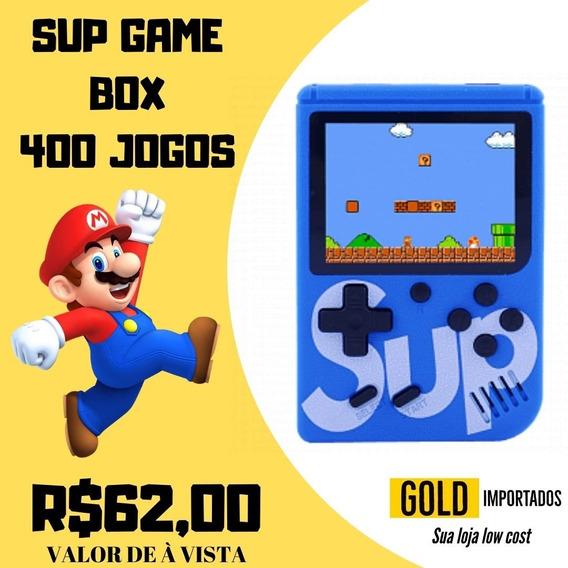 Mini Game Retrô Portátil Sup Box 400 Jogos Clássicos Anos 80