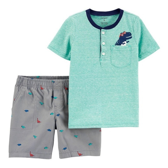 Set 2 Pzas Carter´s Niño Conjunto Playera Y/o Camisa Short