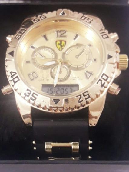 Relógio De Pulso Ferrari + Pulseira Nike Brinde Masculino Ad