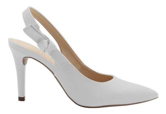 Sapato Scarpin Branco Noiva Salto Alto Confortavel