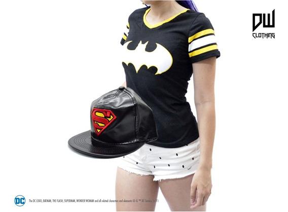 Combo Gorra Superman + Remera Batman   Oficial Dc