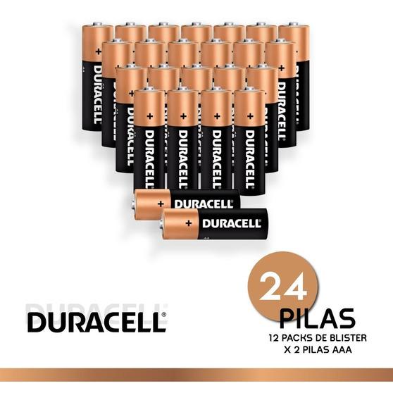 Pila Duracell Alcalina Aaa Pack X 24 Unidades