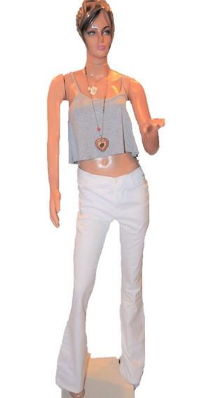 Maria Cher Pantalon De Jean Oxford Medio Jim Blanco