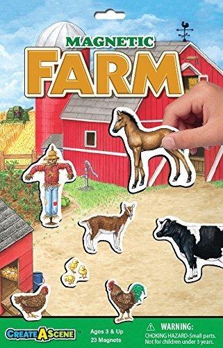 Juego De Platos Magnetico Create-a-scene - Farm