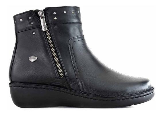 Bota Cuero Mujer Zapatos Briganti Goma Moda Confot Mcbo24991