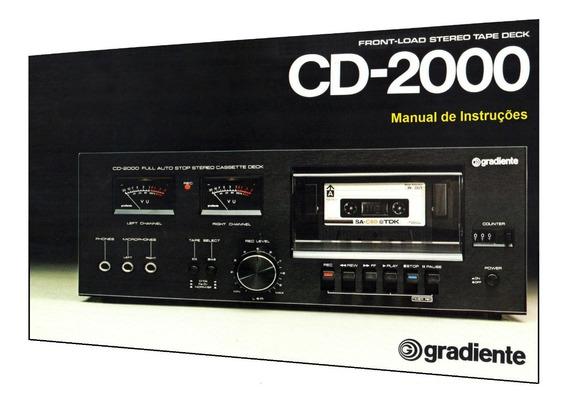 Manual Do Tape Deck Gradiente Cd-2000 (cópia Colorida)