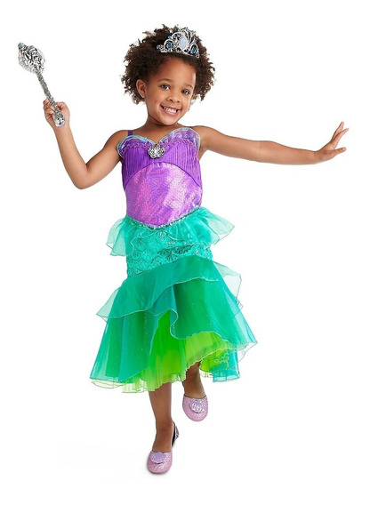 Disfraz Disney Store La Sirenita Ariel Varias Tallas