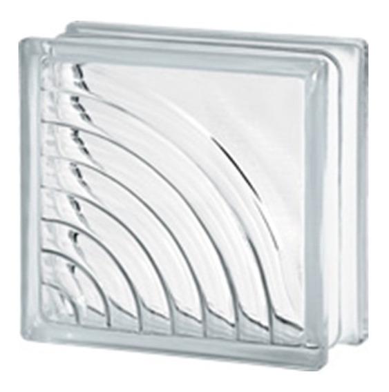 Vidrioblock 19x19x8 Transparente (circulos)(caja 10 Pzas)
