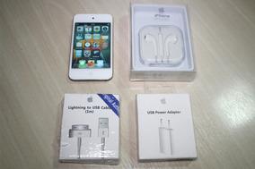 iPod Touch 8gb Seminovo Com Os Acessórios- 4a Geração Branco