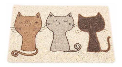Cat Litter Mat, Mantel De Alimentación Para Gatos Súp...