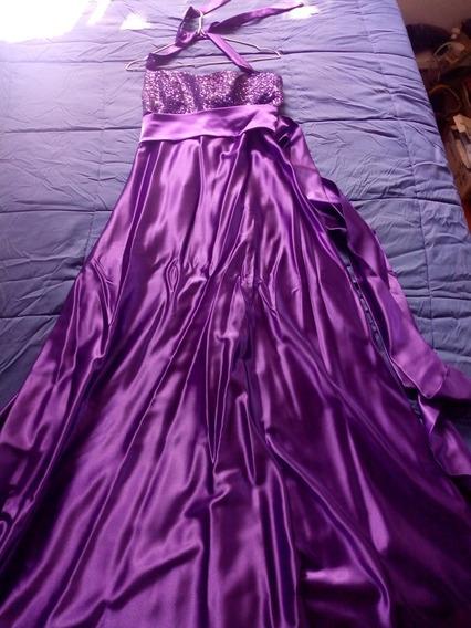 Vestido De Fiesta Violeta Largo