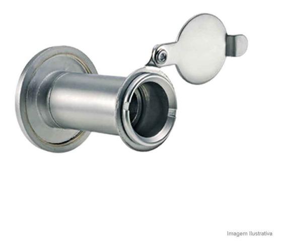 Olho Mágico Para Porta Em Latão Com Tapa Olho 200º Cromado Bemfixa Bemfixa