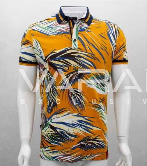 Playera Hombre Tipo Polo 5021 Pima Slim Fit Moda Varanasi