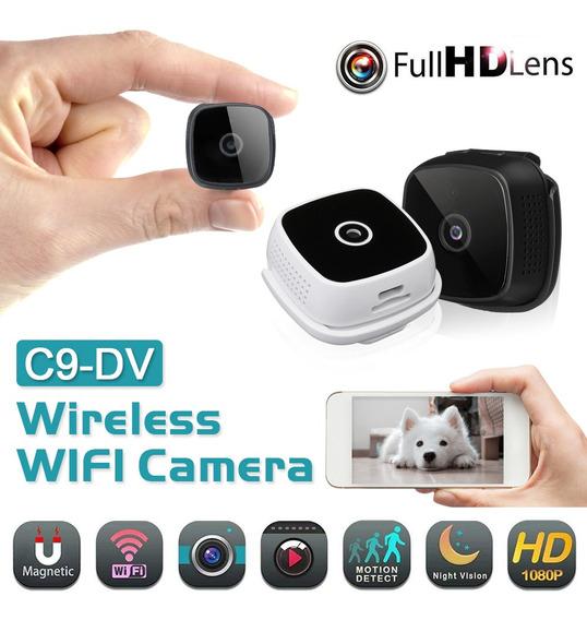 Mini Câmera De Vigilância C9-dv 1080p Hd Iv Visão Noturna