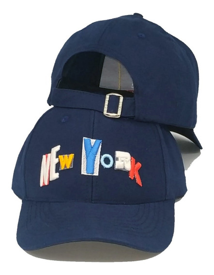 Boné New York Colors Ny Fitão Aba Curva Lançamento Strapback