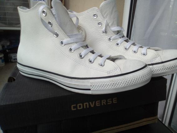 Zapatillas Converse Cuero Blancas 43/44 (10us) Nuevas!!!!!!!