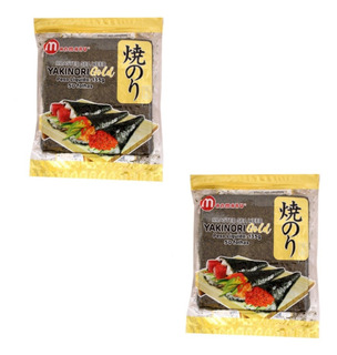 02 Pcte Alga Marinha Nori Sushi Temaki C/50 Folhas
