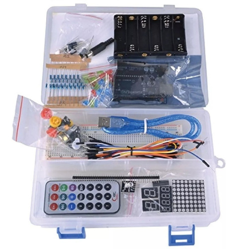 Kit Arduino Uno Básico Con Caja Organizadora   Icutech