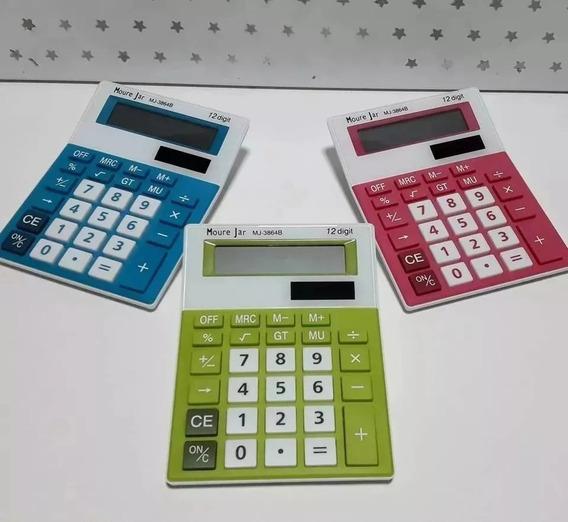 Calculadora M J (mesa) Colors 12dig - Tam 15x11x28 Só 24,80
