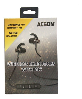 Auriculares Bluetooth Inalambricos Acson As 334 Microfono