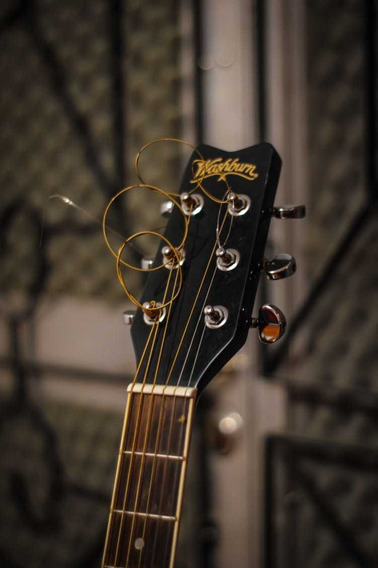 Guitarra Electroacústica Washburn Estuche Y Ampli Marshall