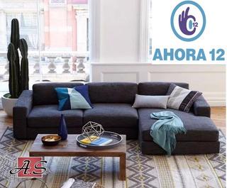 Sillon Sofa Esquinero Living 1.80 X 1.50 Chenille + Cuotas