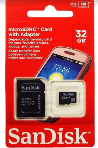 Cartão De Memória Sandisk 32gb